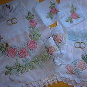 Свадебный салон ручной работы. Ярмарка Мастеров - ручная работа Набор венчальный-6 предметов. Handmade.