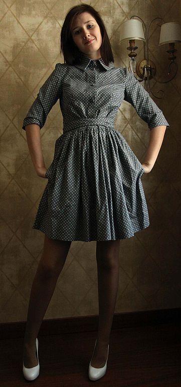 Платья ручной работы. Ярмарка Мастеров - ручная работа. Купить платье № 1. Handmade. Весеннее платье, серое платье
