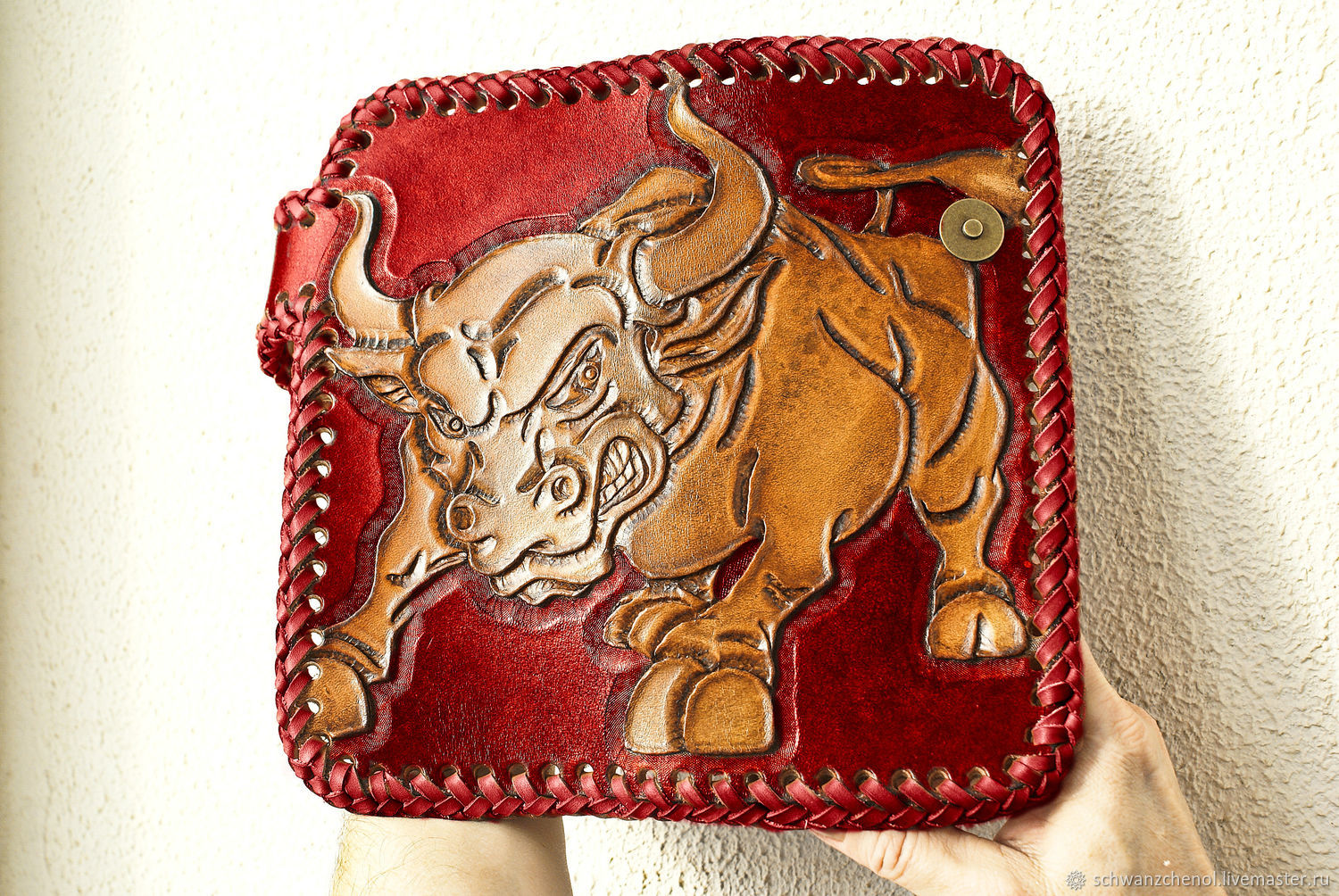 Wallets & Business Card Holders handmade. Livemaster - handmade. Buy Leather wallet feisty Bull.Purse
