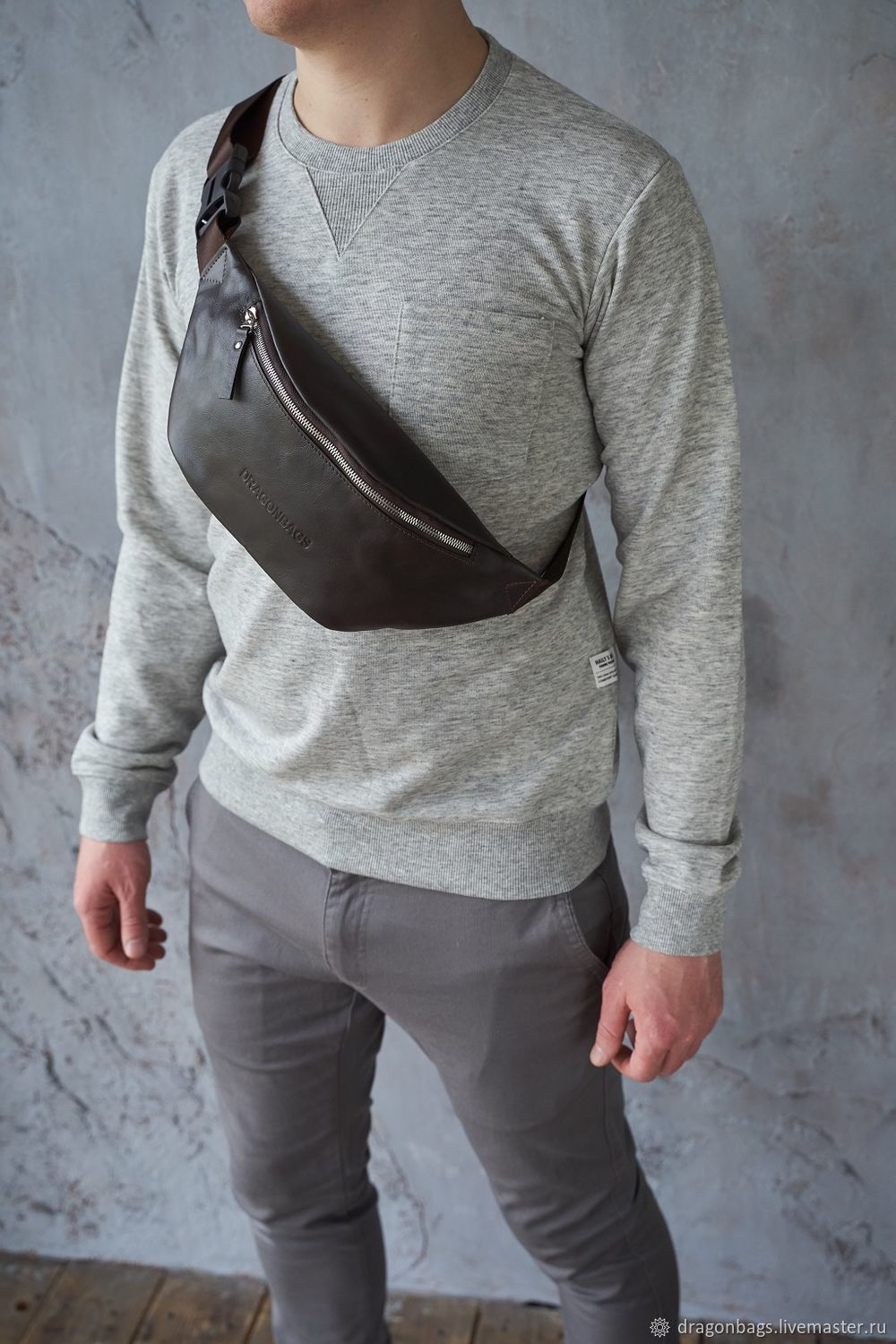 Men's waist bag 'Foster' (Brown), Waist Bag, Yaroslavl,  Фото №1