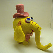 Войлочная игрушка ручной работы. Ярмарка Мастеров - ручная работа Желтый слон.. Handmade.