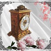 Часы каминные ручной работы. Ярмарка Мастеров - ручная работа Часы настольные каминные часы Золотые розы. Handmade.