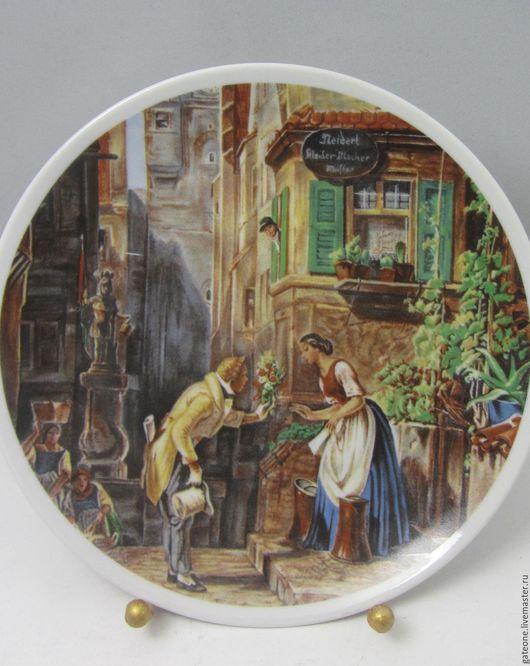 Картины цветов ручной работы. Ярмарка Мастеров - ручная работа. Купить Seltmanлn Weiden  Вечный Жених декоративная   тарелка. Handmade.