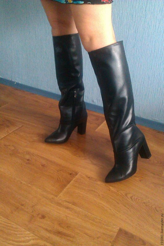Обувь ручной работы. Ярмарка Мастеров - ручная работа. Купить Сапоги 52))). Handmade. Комбинированный, хендмейд, натуральная кожа
