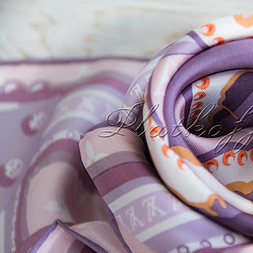 Accessories handmade. Livemaster - original item Italian silk scarf from Louis Vuitton fabric
