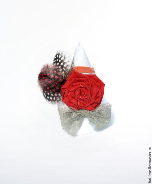 """Детская бижутерия ручной работы. Ярмарка Мастеров - ручная работа. Купить Детская повязка """"Юная роза"""". Handmade. Комбинированный"""