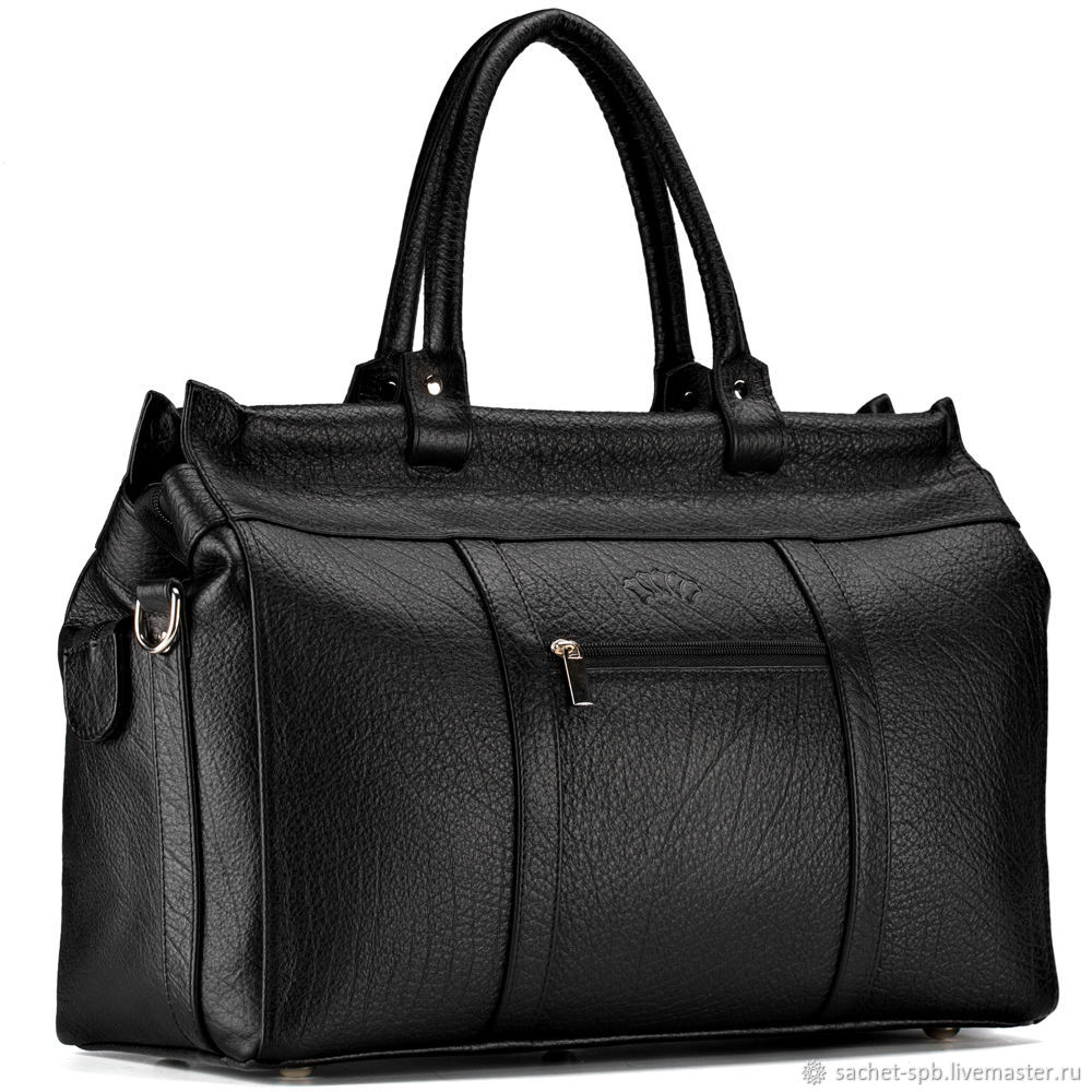 Leather city bag 'foster' (black), Valise, St. Petersburg,  Фото №1
