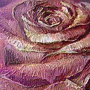 """Картины и панно ручной работы. Ярмарка Мастеров - ручная работа Картина маслом """"Роза"""" триптих. Handmade."""