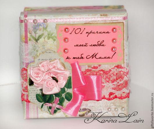 Персональные подарки ручной работы. Ярмарка Мастеров - ручная работа. Купить Коробочка 101 причина моей любви к тебе Мама. Handmade.