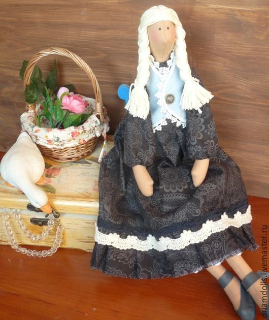 Куклы Тильды ручной работы. Ярмарка Мастеров - ручная работа. Купить Тильда ангел. Handmade. Чёрно-белый, деревенский стиль