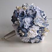 Свадебные букеты ручной работы. Ярмарка Мастеров - ручная работа Джинсовый Свадебный Букет. Handmade.