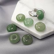 Материалы для творчества handmade. Livemaster - original item 1 PCs. Bagel Bead 14x8 mm Aventurine Green (5218). Handmade.