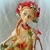 """Куклы и игрушки ручной работы. Ярмарка Мастеров - ручная работа Войлочная кукла """"Маков цвет"""". Handmade."""