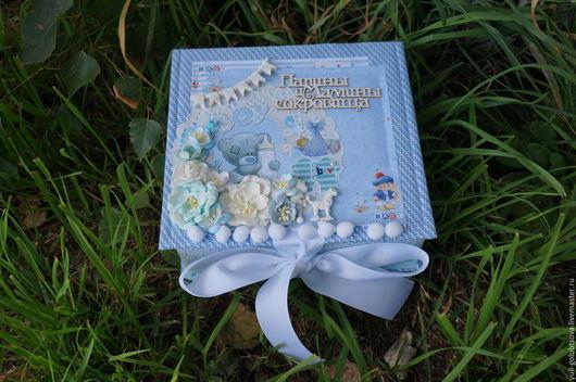 """Подарки для новорожденных, ручной работы. Ярмарка Мастеров - ручная работа. Купить Коробочка """"Мамины сокровища"""". Handmade. Комбинированный, бумага для скрапбукинга"""