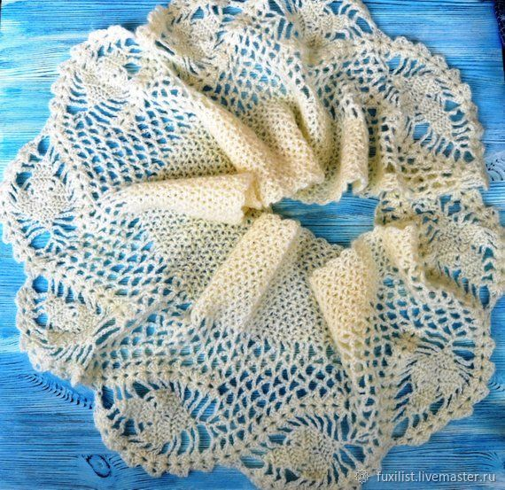 Scarf Crocheted From Soft Feather Yarn A Scarf From Mohair Shop