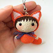 Лисичка вязаная - куколка амигуруми