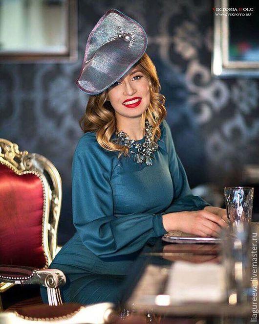 Шляпы ручной работы. Ярмарка Мастеров - ручная работа. Купить Шляпка Lia Gureeva. Handmade. Шляпка, шляпа, коктейльная шляпка