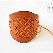"""Украшения ручной работы. Ярмарка Мастеров - ручная работа Кожаный браслет в кельтском стиле """"Пламя"""". Handmade."""