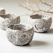 """Посуда ручной работы. Ярмарка Мастеров - ручная работа набор пиал """"дымчатый коралл"""" раку керамика. Handmade."""