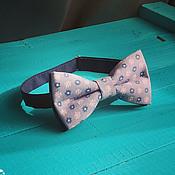 Аксессуары handmade. Livemaster - original item Tie grey Magnolia / bow tie with floral print. Handmade.