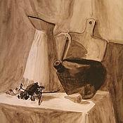 Картины и панно ручной работы. Ярмарка Мастеров - ручная работа Натюрморт гризайль. Handmade.
