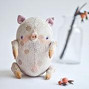 Куклы и игрушки ручной работы. Ярмарка Мастеров - ручная работа Хрюшка Льняная Неженка. Handmade.