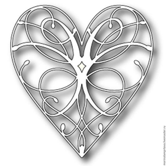 Открытки и скрапбукинг ручной работы. Ярмарка Мастеров - ручная работа. Купить Memory box La Rue Heart. Handmade. Серебряный
