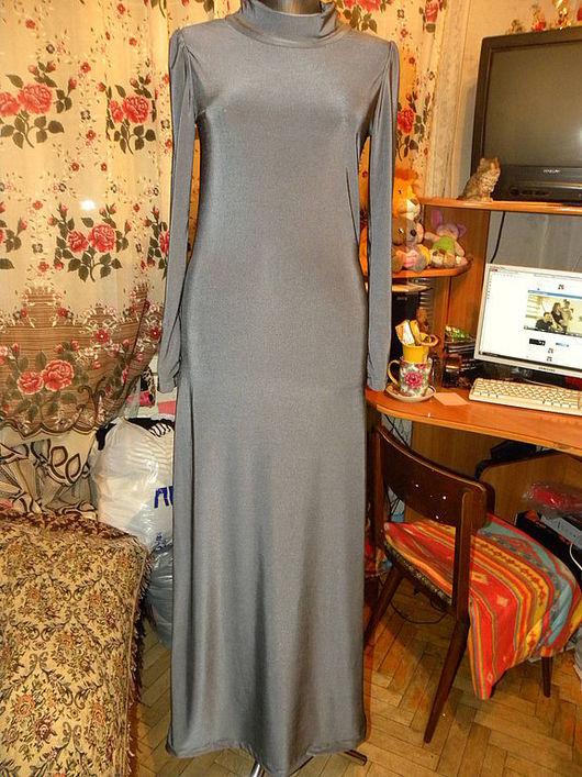 """Платья ручной работы. Ярмарка Мастеров - ручная работа. Купить Платье""""Серое"""". Handmade. Платье с длинным рукавом, макси платье, серый"""