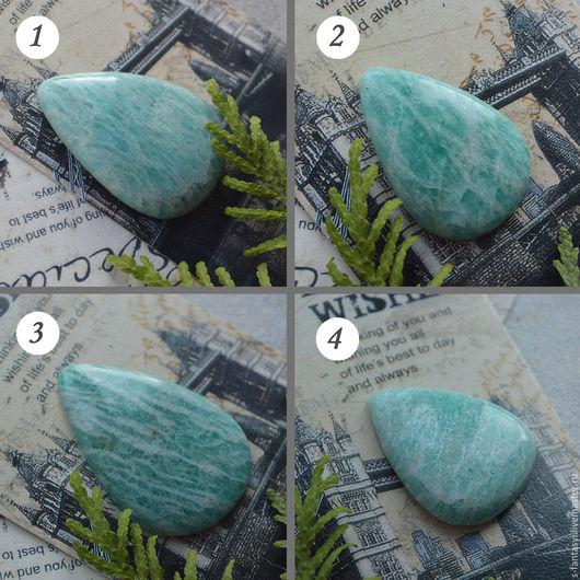Для украшений ручной работы. Ярмарка Мастеров - ручная работа. Купить Амазониты №1 кабошоны из натурального камня. Handmade. Мятный