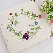 Канцелярские товары handmade. Livemaster - original item Photo album with embroidery