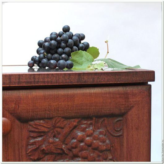 Мебель ручной работы. Ярмарка Мастеров - ручная работа. Купить Винный шкаф Лоза Кубани резной из дерева - резьба по дереву. Handmade.