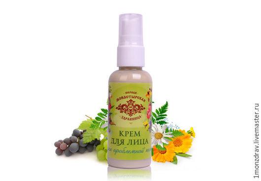 Натуральный крем для жирной кожи лица, а также проблемной, комбинированной. Легкий. Не оставляет чувства липкости. 100% натуральный состав, только растительные ингредиенты. Волшебно пахнет!