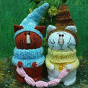 Куклы и игрушки ручной работы. Ярмарка Мастеров - ручная работа Зимние котогномы с сосисками.. Handmade.