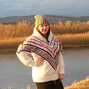 Одежда handmade. Livemaster - original item Knitted bomber jacket, women`s. Fruit meringue. Ed.slave.. Handmade.