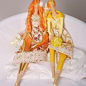 Куклы и игрушки ручной работы. Ярмарка Мастеров - ручная работа Тильды-подружки. Рыжуха и Солнце.. Handmade.