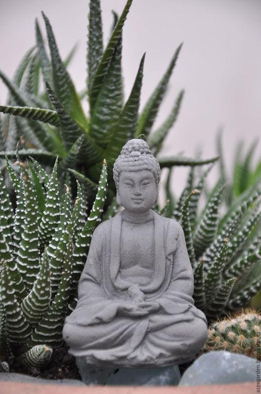 Украшения для цветов ручной работы. Ярмарка Мастеров - ручная работа. Купить Мини-фигурка Будды из бетона для флоррариума и террариума. Handmade.
