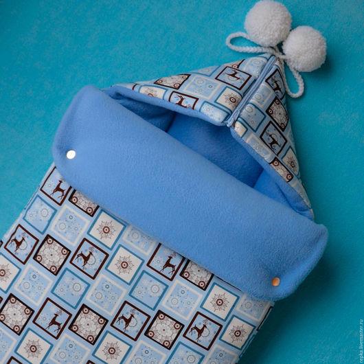 Для новорожденных, ручной работы. Ярмарка Мастеров - ручная работа. Купить Конверт на выписку и для прогулок. Handmade. Рисунок, выписка, малышу