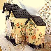 Для дома и интерьера ручной работы. Ярмарка Мастеров - ручная работа Комплект домиков для кухни: чайный домик  и домик для спичек. Handmade.