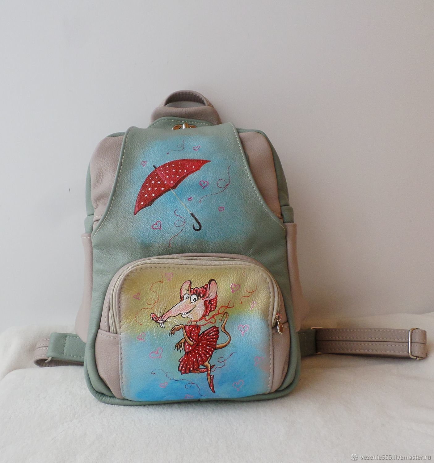 Custom Painted leather backpack for Sabina, Backpacks, Noginsk,  Фото №1