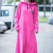 Одежда handmade. Livemaster - original item Pink dress with pockets, sporty style - DR0135CA. Handmade.