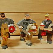 Куклы и игрушки handmade. Livemaster - original item Three heroes. Ilya, Dobrynya and Alyosha. Handmade.