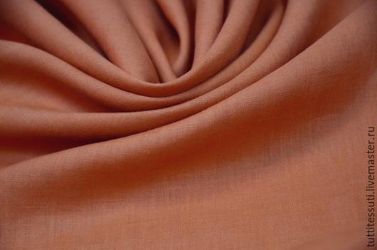 Шитье ручной работы. Ярмарка Мастеров - ручная работа. Купить Костюмный лен 02-003-2637. Handmade. Оранжевый