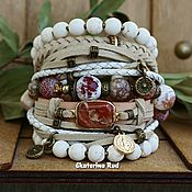 Украшения handmade. Livemaster - original item BOHO-chic bracelet with red jasper