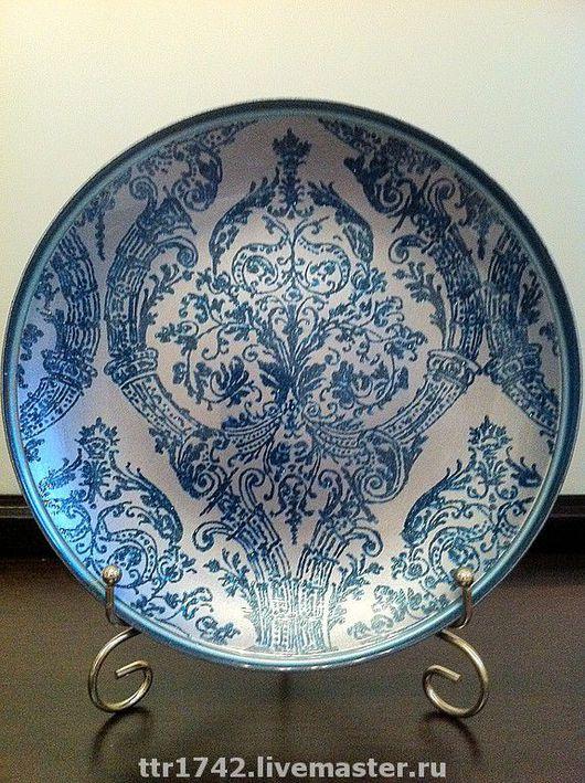 """Тарелки ручной работы. Ярмарка Мастеров - ручная работа. Купить Тарелка """"Голубое барокко"""". Handmade. Декоративная тарелка, для интерьера, посуда"""