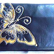 Сумки и аксессуары handmade. Livemaster - original item clutches: Clutch bag female youth BUTTERFLY faux leather. Handmade.