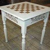 Шахматный стол для комнаты девочки