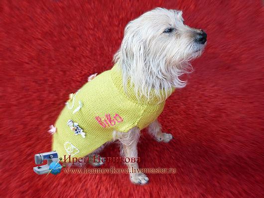 Одежда для собак, ручной работы. Ярмарка Мастеров - ручная работа. Купить Свитерок для любимого питомца. Handmade. Одежда для собак, вязание