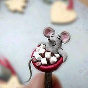 Ложки ручной работы. Ярмарка Мастеров - ручная работа Ложка ручной работы мышь мышка мышонок символ 2020 года ручной работы. Handmade.