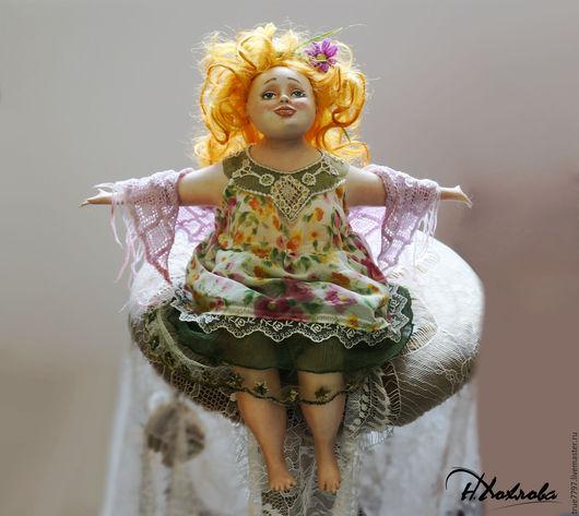 Коллекционные куклы ручной работы. Ярмарка Мастеров - ручная работа. Купить Лето. Handmade. Коллекционная кукла, дизайнерская работа, шёлк