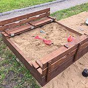 Для дома и интерьера ручной работы. Ярмарка Мастеров - ручная работа песочница со складными сиденьями. Handmade.